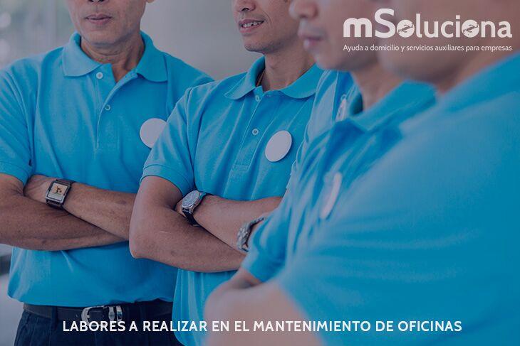 Labores a realizar en el mantenimiento de oficinas