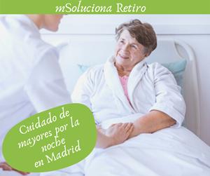 Cuidado de mayores en Madrid por la noche