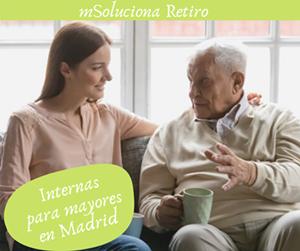 Empleadas de hogar internas para mayores Madrid